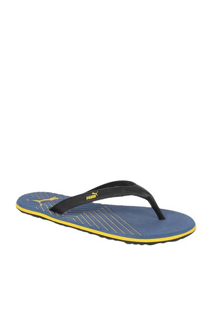 672f547026b9 Buy Puma Webster Ind. Black   Blue Flip Flops for Men at Best Price   Tata  CLiQ