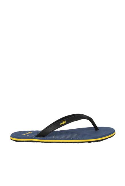 ba6bd9a240e35 Buy Puma Webster Ind. Black   Blue Flip Flops for Men at Best Price ...