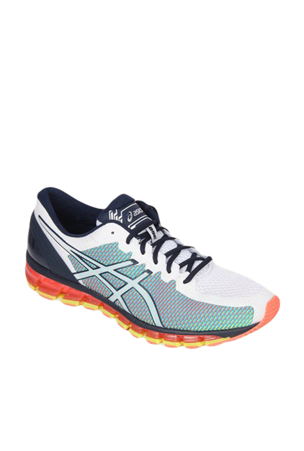 promo code abf0c 702a4 Buy Asics Gel-Quantum 360 2 White & Turquoise Running Shoes ...