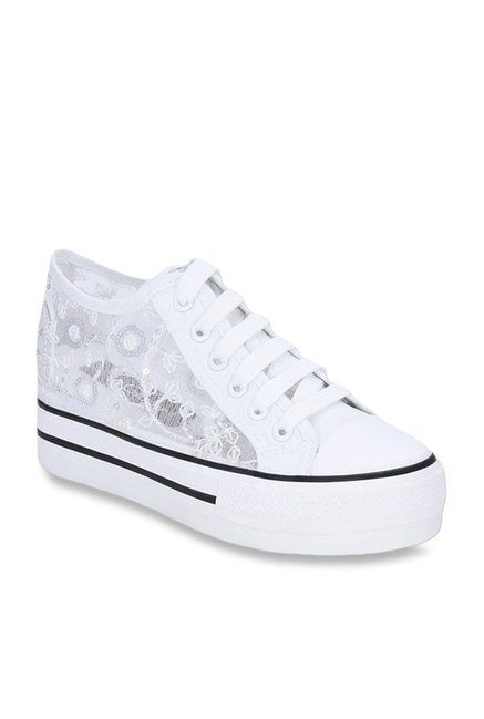 cb816f3b7a0 Buy Get Glamr Suzi White Sneakers for Women at Best Price   Tata ...