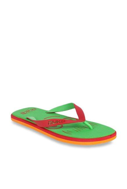 2bcfe988a59 Buy Duke Red   Green Flip Flops for Men at Best Price   Tata CLiQ