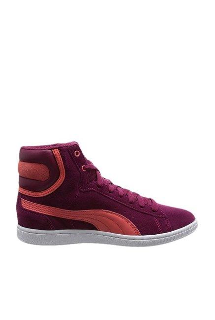 tolle Auswahl moderne Techniken Wert für Geld Buy Puma Vikky Mid NC Purple Sneakers for Women at Best Price @ Tata CLiQ