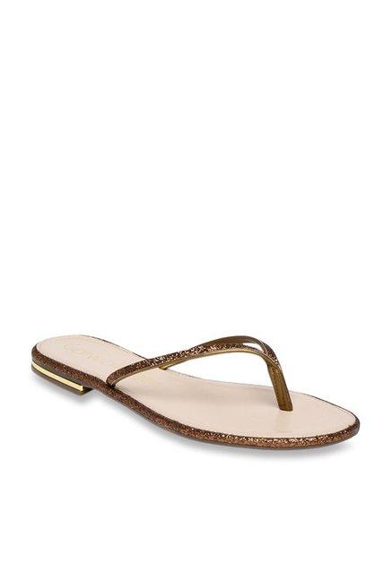 21e155fae8 Buy Catwalk Bronze Thong Sandals for Women at Best Price @ Tata CLiQ