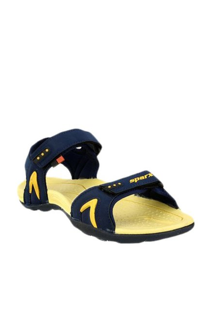 d40ee5db6b5 Buy Sparx Navy   Yellow Floater Sandals for Men at Best Price ...