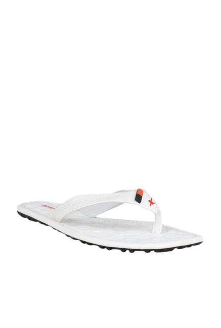 Buy Sparx White Flip Flops for Men at