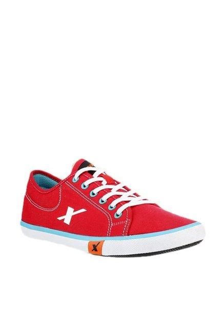 Buy Sparx Red \u0026 Sky Blue Sneakers for