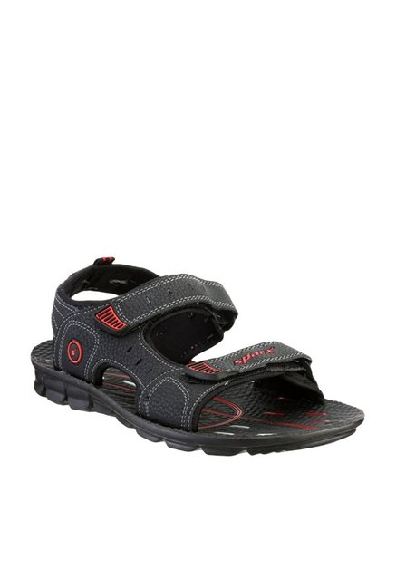 2982b4dca Buy Sparx Black Floater Sandals for Men at Best Price   Tata CLiQ