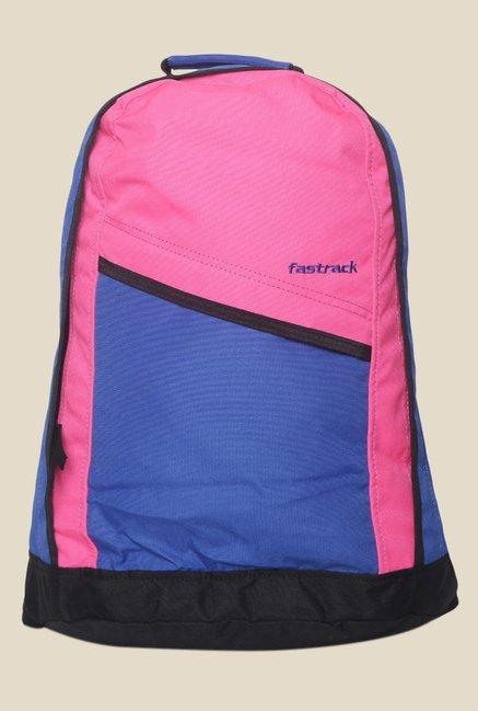 Buy Fastrack Pink and Blue Polyester Backpack For Women At Best ... 8f1f17ff34e54