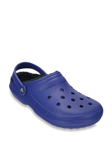 7f1075082694 Buy Crocs Classic Lined Cerulean Blue Back Strap Clogs for Men at Best  Price   Tata CLiQ