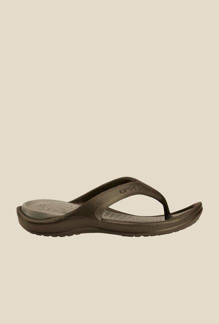 cd0def54d1cc6 Buy Crocs Athens II Chocolate Brown Flip Flops for Women at Best ...