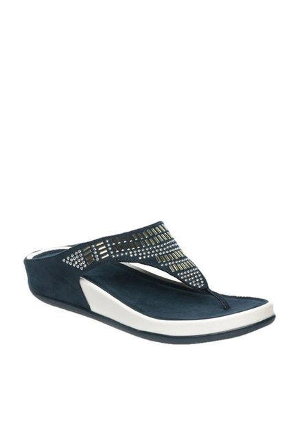 e16f8065e31 Buy Pavers England Navy T-Strap Sandals for Women at Best Price ...