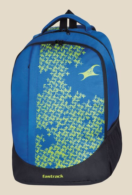 Fastrack Blue Polyester Printed Backpack