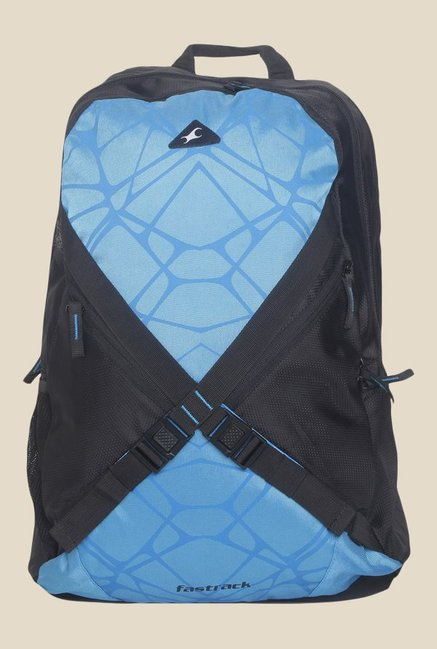 Fastrack Blue Polyester Textured Backpack