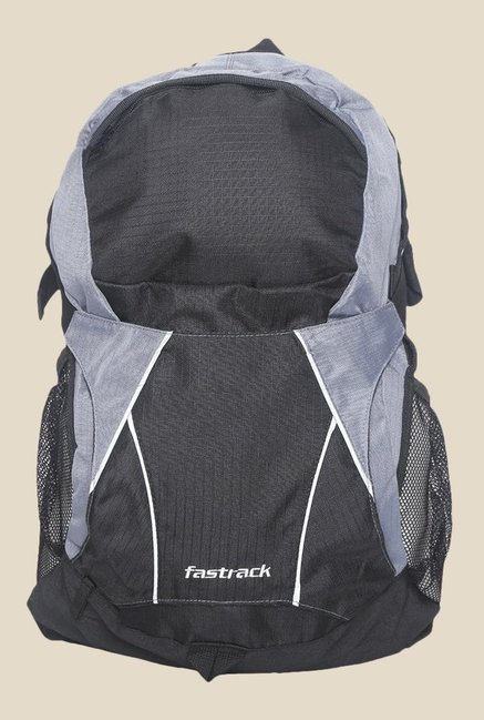 Fastrack Black and Grey Polyester Backpack