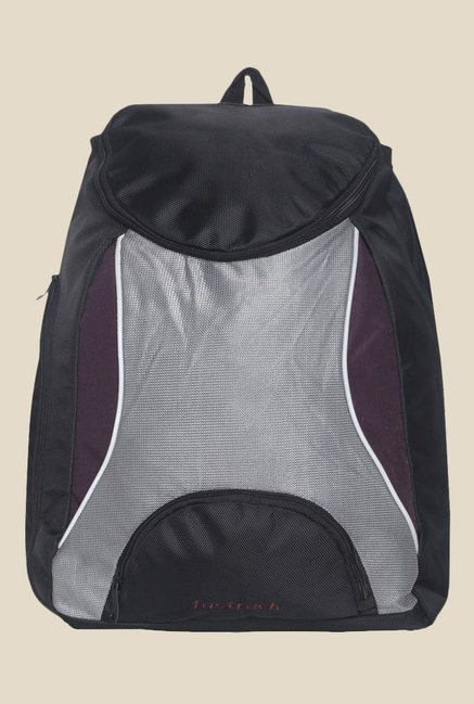 Fastrack Black Polyester Textured Backpack