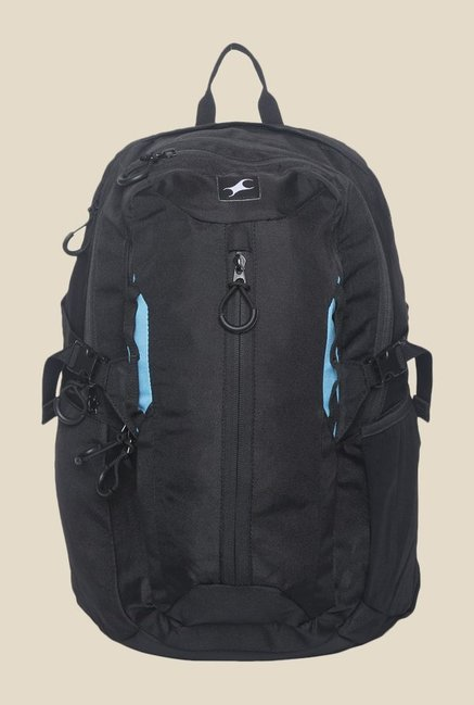 Fastrack Black Solid Polyester Backpack