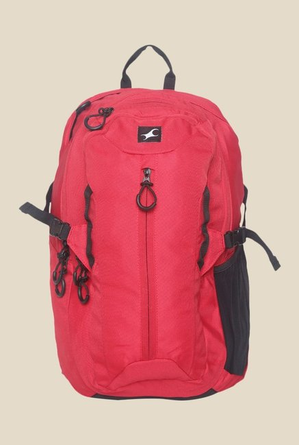 Fastrack Red Solid Polyester Backpack