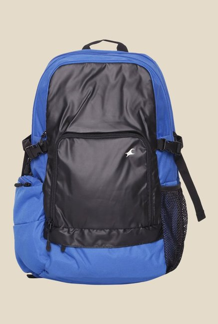 Fastrack Blue Solid Polyester Backpack