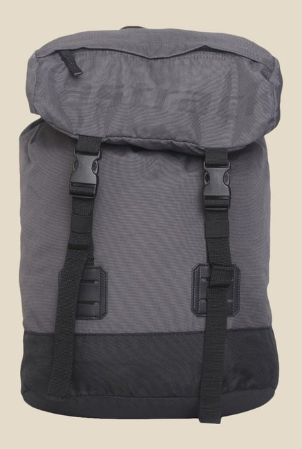 Fastrack Grey Solid Polyester Backpack