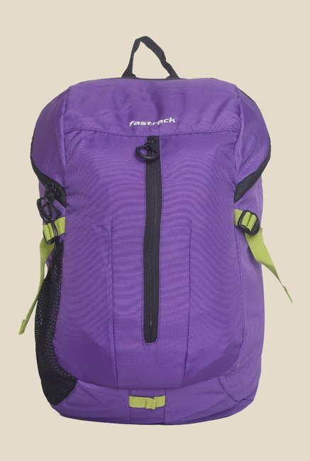Fastrack Purple Solid Polyester Backpack