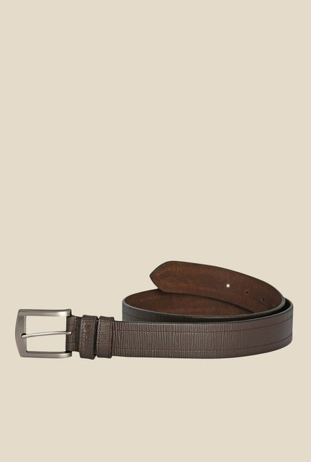 Fastrack Brown Textured Belt