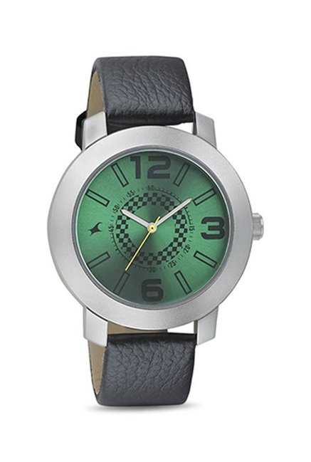 Fastrack 3120SL03 Analog Green Dial Men's Watch