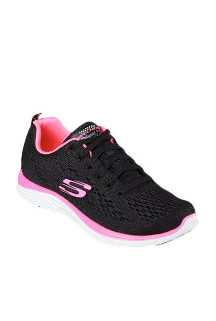 9d430c7fdd25 Buy Skechers Valeris Black   Hot Pink Training Shoes for Women at Best  Price   Tata CLiQ