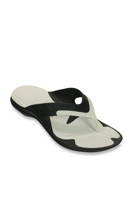 d6dfeda0f387de Buy Crocs Modi Sport Black   White Flip Flops for Men at Best Price   Tata  CLiQ