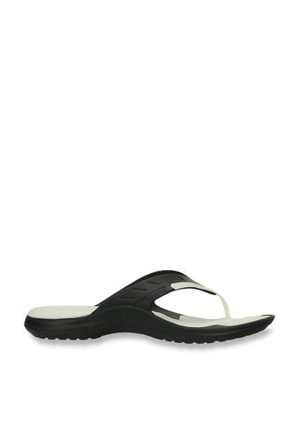74c04b0bb97165 Buy Crocs Modi Sport Black   White Flip Flops for Men at Best Price ...