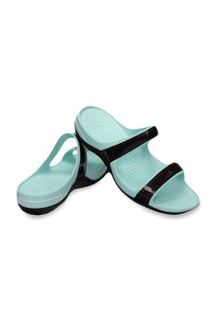 7fba129e1 Buy Crocs Patra II Espresso   Sea Foam Casual Sandals for Women at ...