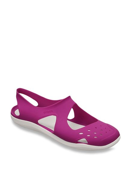 501a5c81a Buy Crocs Swiftwater Wave Vibrant Violet Sling Back Sandals for Women at  Best Price   Tata CLiQ