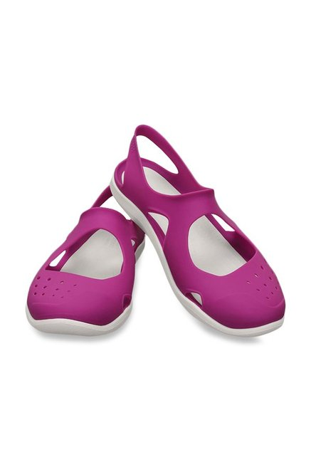 3692a124f Buy Crocs Swiftwater Wave Vibrant Violet Sling Back Sandals for ...