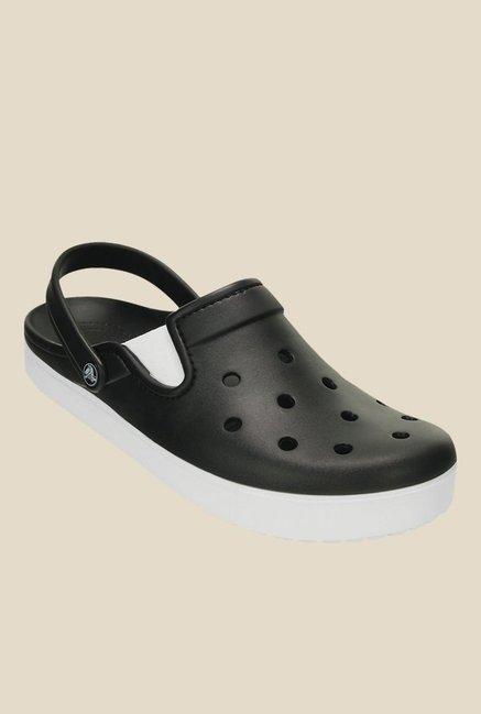2799ea9fa124 Buy Crocs CitiLane Black   White Back Strap Clogs for Men at Best Price    Tata CLiQ