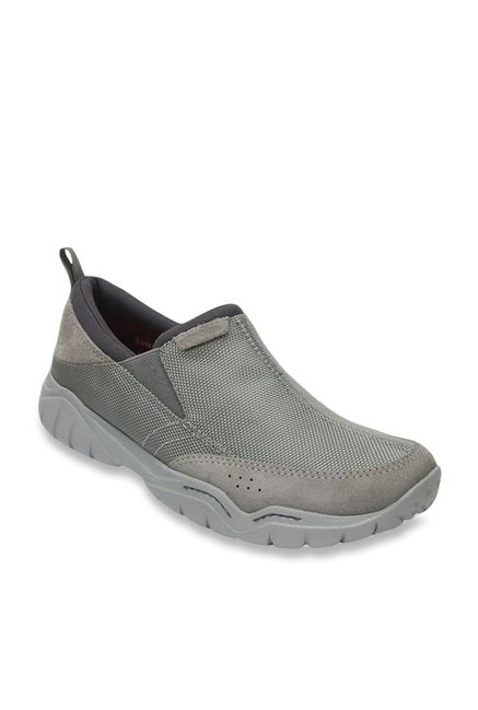 96f987444a41e Buy Crocs Swiftwater Edge Moc Charcoal Grey Casual Shoes for Men at Best  Price   Tata CLiQ