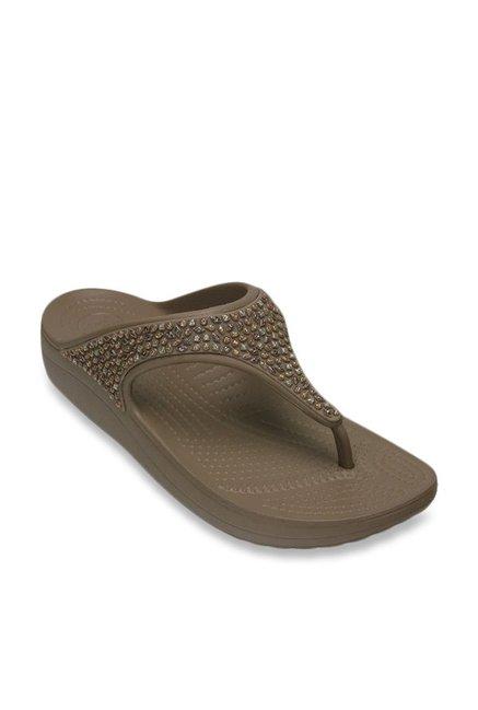 2d8cf5403da2e Buy Crocs Sloane Mushroom T-Strap Sandals for Women at Best Price   Tata  CLiQ