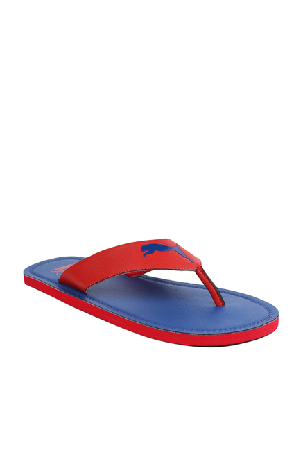 7be466f8a368 Buy Puma Flash Cat IDP Red   Blue Flip Flops for Men at Best Price ...