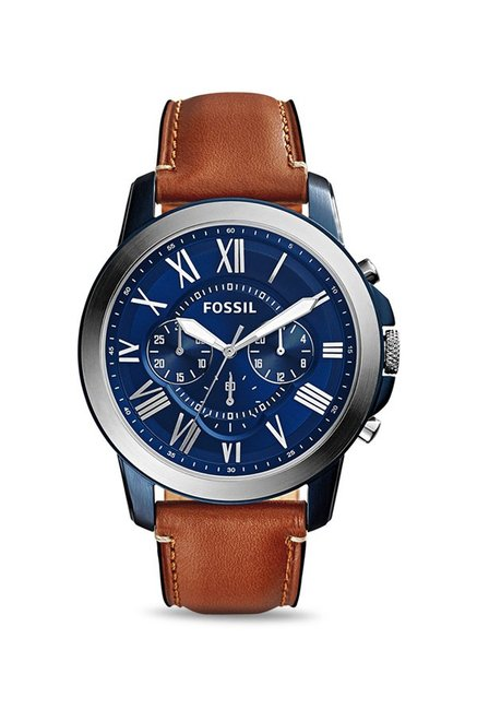 Fossil FS5151 Grant Chronograph Blue Dial Men's Watch (FS5151)