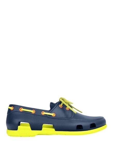 11cdb218f Buy Crocs Beach Line Navy   Citrus Boat Shoes for Men at Best Price ...