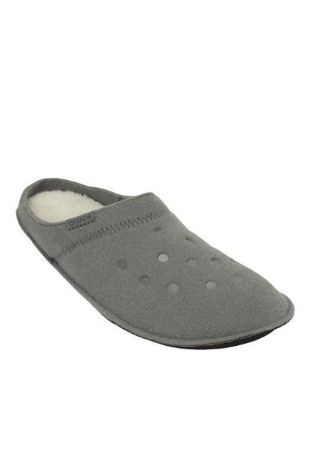 91784e5099e4 Buy Crocs Classic Smoke Grey   Oatmeal Mule Shoes for Men at Best ...