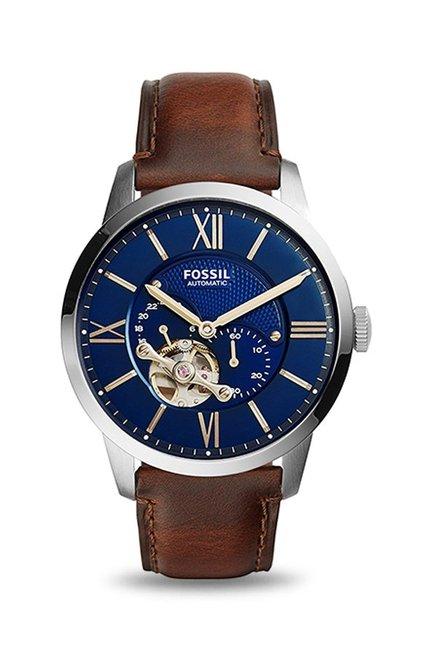 Fossil Townsman Analog Blue Dial Men's Watch, ME3110
