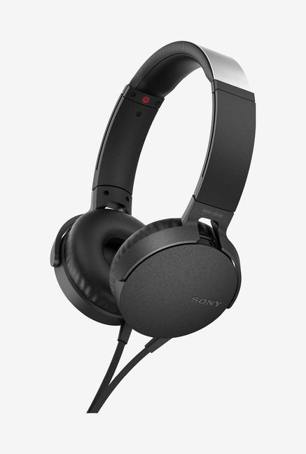 Sony XB550AP EXTRA BASS Over Ear Headphones with Mic  Black