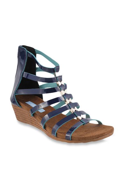 68d0848d991 Buy Metro Navy Gladiator Sandals for Women at Best Price   Tata CLiQ