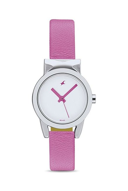 Fastrack NG6088SL01 White Analogue Women's Watch (NG6088SL01)