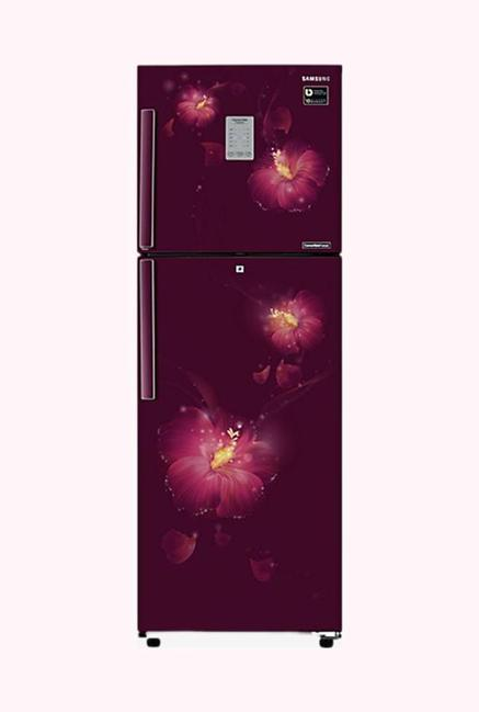 Samsung RT28M3954R3/U3 253L 4 Star Double Door Refrigerator, Rose Mallow Plum