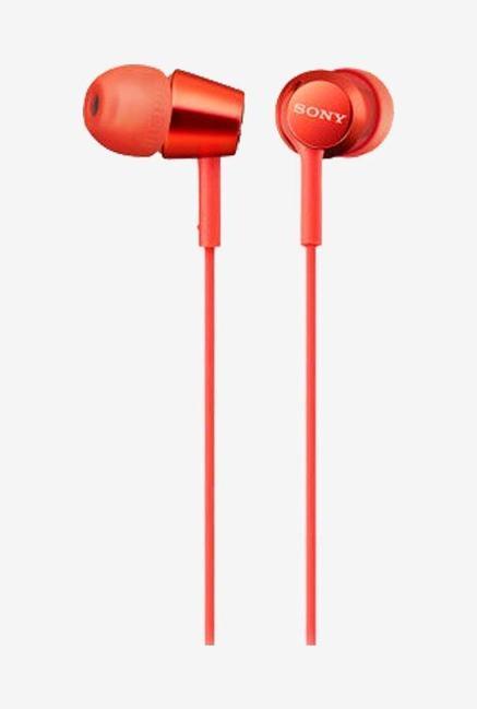 Sony MDR-EX155 In The Ear Earphones, Red