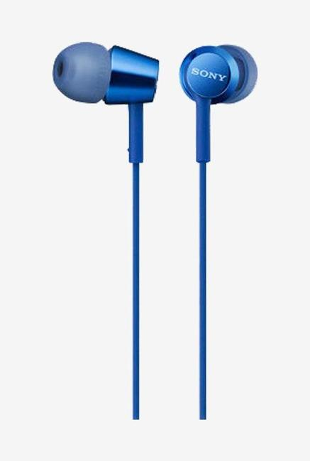 Sony Mdr Ex155Ap Wired Earphones  Blue