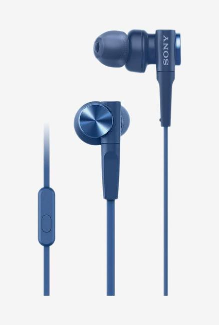 Sony MDR-XB55AP In The Ear Earphones, Blue