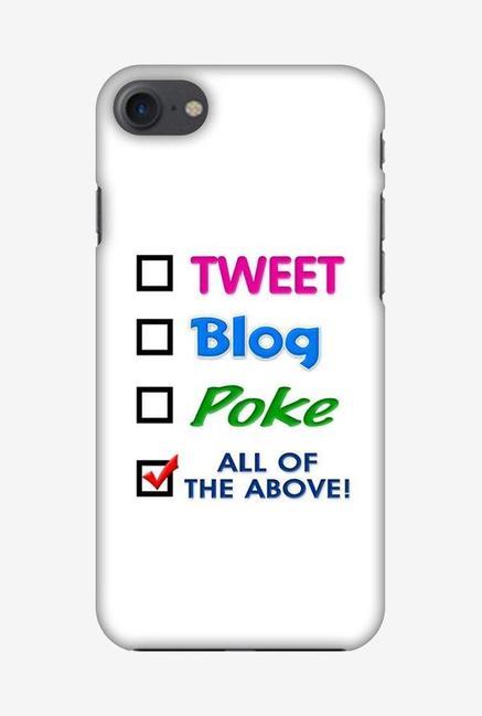 Amzer Tweet Designer Soft Case Back Cover for Apple iPhone 7