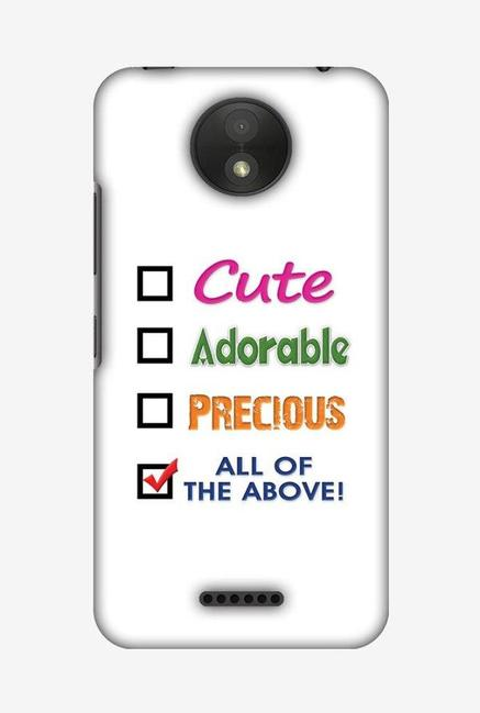 newest ced78 aca8e Buy Amzer Cute Designer Soft Case Back Cover for Moto C Plus Online ...
