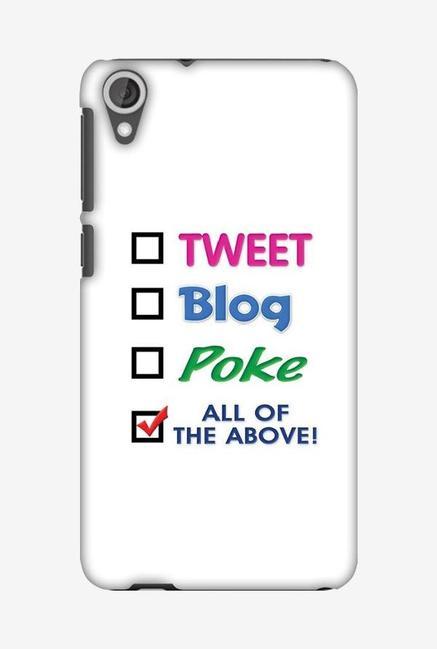 huge discount adc96 ebe61 Buy Amzer Tweet Designer Soft Case Back Cover for HTC Desire 820 ...